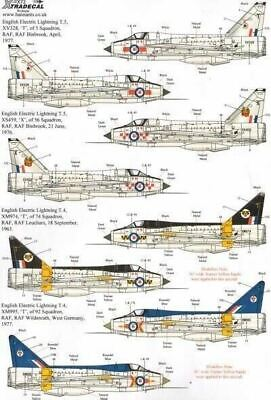 Xtradecal X72200 1/72 BAC/EE Lightning T.4/T.5 Part 1 Model Decals