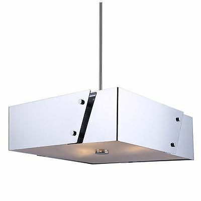 Canarm 3 light Chandelier withFrosted Glass Diffuser - Chrome Finish