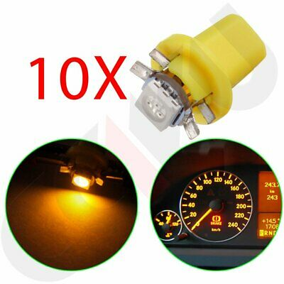 10X Yellow B8.5D 1-5050-SMD LED Instrument Gauge Cluster Lights Lamp For Ford