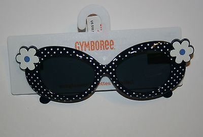 New Gymboree Daisy Flower Polka Dot Sunglasses 4 & Up NWT Spring Prep Line