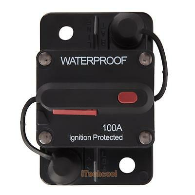 DC 100A Circuit Breaker Manual Reset 12V/24V Ignition Protected Waterproof #T1K