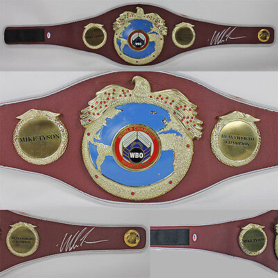 Mike Tyson Authentic Signed Full Size WBO Boxing Belt PSA/DNA ITP #6A99293