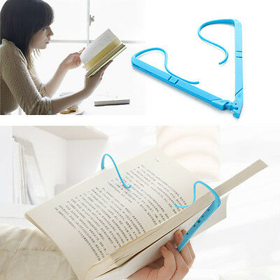 Easy Hands Free Travel Reading Tool - Foldable Book Holder Holds Pages Open Clip