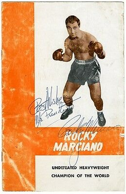 """Rocky Marciano Signed """"Best Wishes Mr. President"""" Promotional Brochure"""