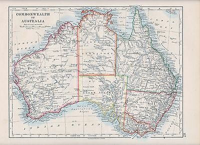 1931 Map ~ Commonwealth Of Australia ~ New South Wales Queensland Victoria