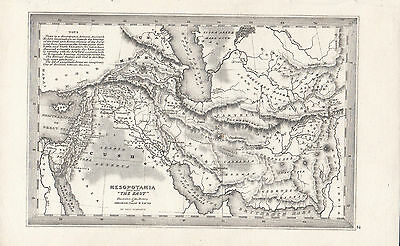 c1840 VICTORIAN MAP MESOPOTAMIA ILLUSTRATIVE OF THE HISTORY ABRAHAM ISSAC JACOB