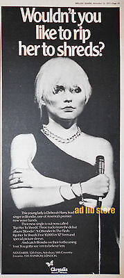 Blondie - Rip Her To Shreds, Coventry, Rainbow Theatre, British Advert/ad 1977