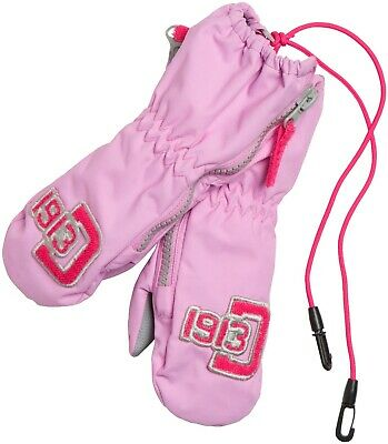 Didriksons Biggles Kids Zip Mittens Girls Boys Insulated Water Repellent 592127