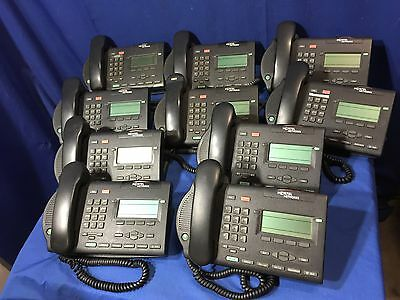 Lot of 10 Nortel M3903 Charcoal Black Digital Business Phone Call Center Phones