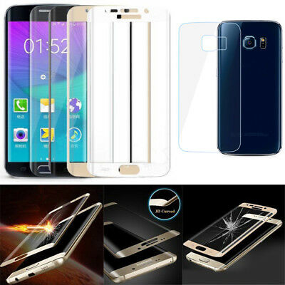3D Full Coverage Tempered Glass Screen Protectors For Samsung Galaxy S7 EDGE S6