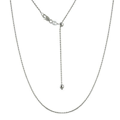 """Adjustable Spiga Wheat Chain Necklace - 925 Sterling Silver - 2mm 030 NEW 16-22"""""""