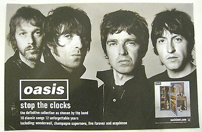 Oasis - Stop The Clocks promo poster NEW