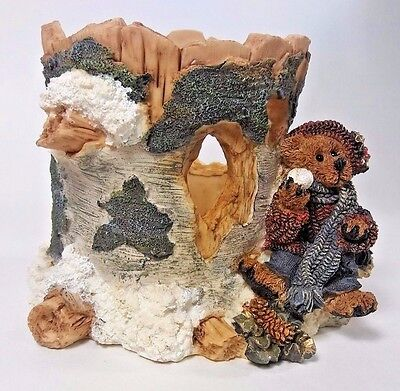 The Boyds Collection Bears & Friends The Ambush at Birch Tree Candleholder