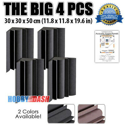 New 4 pcs Bundle Bass Trap Soundproofing Acoustic Sound Absorption Foam KK1036