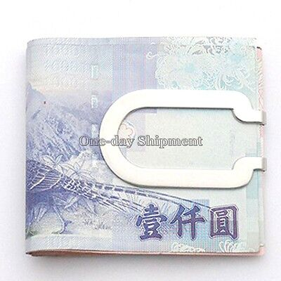 New Men's Beautiful Stainless Steel Money Clip Metal Business Wallet Card Holder