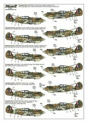 Xtradecal X72139 1/72 Curtiss P-40B Tomahawk Model Decals