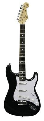 SX 3/4 Beginner Electric Guitar & Amp Pack Black w/lead, picks, tuner & more NEW