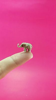 Adorable Elephant Collectible Wild Animal Miniature Figurine handmade ceramic