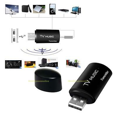 USB Bluetooth Stereo Audio Transmitter 3.5mm Music Dongle Adapter for TV MP3 PC