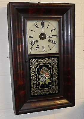 1920 American decorative 30 hour Wall Clock good working Order