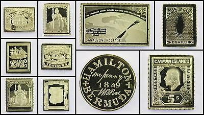 100 Greatest Stamps Collection .925 Silver Replicas Central America & Caribbean