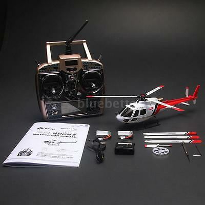 100% Original Wltoys V931 6CH Flybarless 3 Blade AS350 Scale RC Helicopter RTF