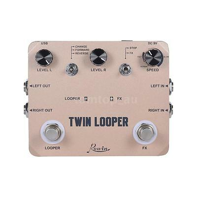 TWIN LOOPER Aluminum Alloy Guitar Effect Pedal Mono Stereo Input/ Output W7W9
