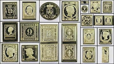 100 Greatest Stamps Collection .925 Silver Replicas Europe A Postage Stamp