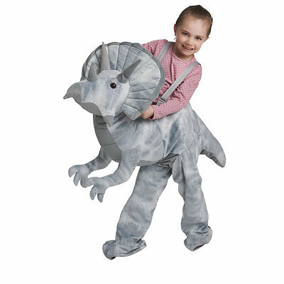 Triceratop Dinosaur Ride On Fancy Dress Party Costume Ages 3-7 Years