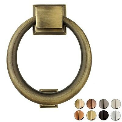 Solid Brass Mid Century Modern Ring Door Knocker ~ 4 Finishes Available ~ New!