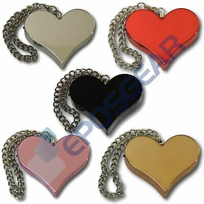 Minder Accessorise Heart Personal Attack Rape Panic Safety Security Chain Alarm