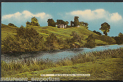 Wales Postcard - River Teify and Castle, Newcastle Emlyn  MB2283