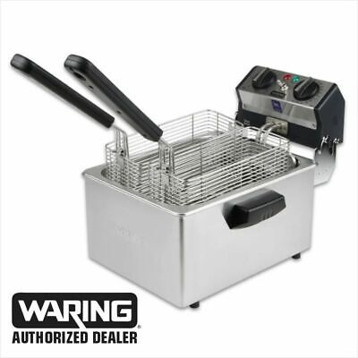 Waring WDF75RC Commercial Compact 8.5lb Deep Fryer 120V 1 Year Warranty