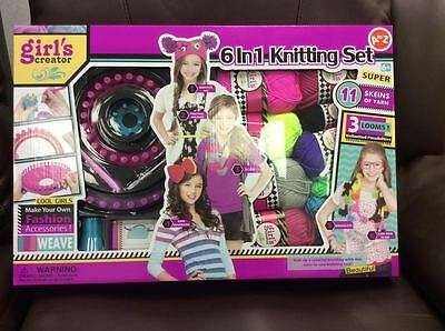 Kids Knitting Set Starter Kit Toy Wool Crafts Art Knit Children Girl 32063