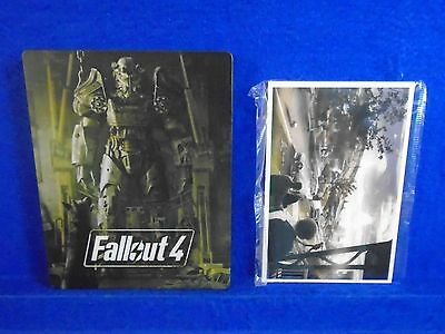 ps3 FALLOUT 4 Steelbook Rare Design + Post Cards only