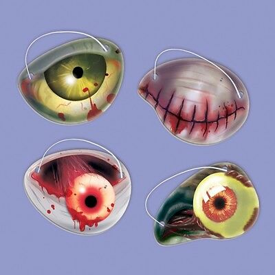 12 Halloween Zombie Eye Patches Kids Childrens Party Loot Bag Trick Treat Filler