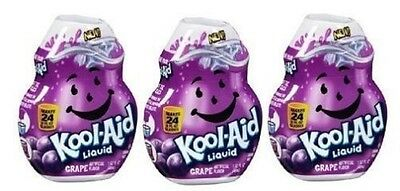 Kool-Aid Grape Flavor Enhancer Liquid Drink Mix 3 Bottle Pack