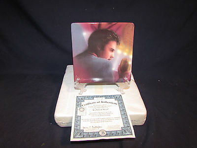 Elvis Presley it's now or never platinum mural Plate-Bradford Exchange