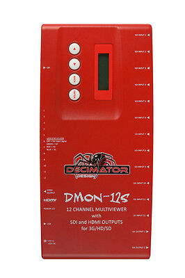 Decimator Design DMON-12S 12 Channel 3G/HD/SD Multiviewer with SDI and HDMI Out