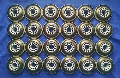 NEW! Lot of 24 Outdoor Rollerblade Inline Fitness Hockey Skate Wheels 72mm 82A