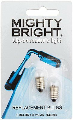 Mighty Bright clip on Reader Replacement Light Bulbs (2)