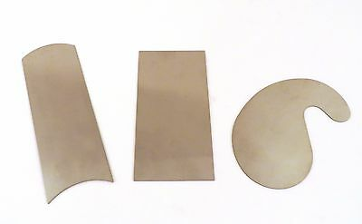 Cabinet Scraper Set 3 Pc w/ Gooseneck, Rectangle & Curved Stainless Steel CSX3