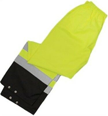 ML Kishigo RWP102-L-XL Rain Pants Class E Lime L-Xl