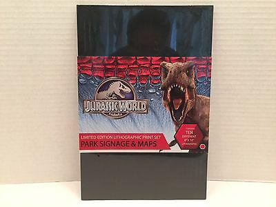 Factory Entertainment Jurassic World Lithograph Sdcc 2016 Exclusive New In  Hand