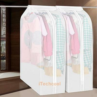 M/L Coat Suit Dustproof Cover Hanging Bag Dress Jacket Garment Storage Protector