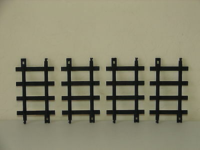 "LlONEL WIDER G Scale Model Railroad 5-3/4"" STRAIGHT Train TRACK  Plastic (4) Pcs"