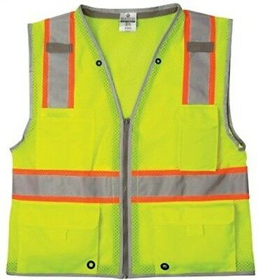 ML Kishigo 1510-L Heavy Duty Vest Class 2 Lime L