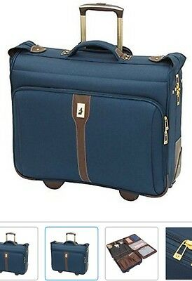 "London Fog Westminster 44"" Rolling Garment Bag Suitcase Luggage"