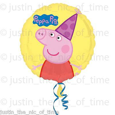 """PEPPA PIG Childrens Kids Party Girls Birthday Pink Yellow Party 17"""" FOIL BALLOON"""