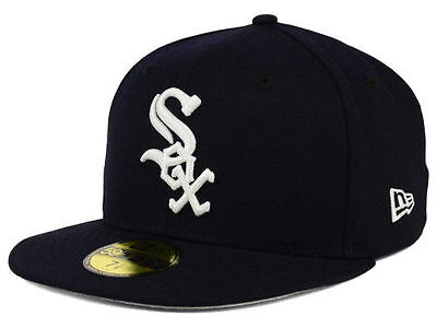 Chicago White Sox MLB Baseball Cap Kappe Fitted New Era Size 7 5/8   59fifty